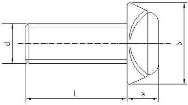 Rysunek techniczny Śruby Zabezpieczającej