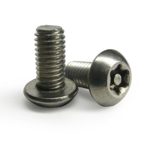 Śruba torx ze szpilką łeb soczewkowy